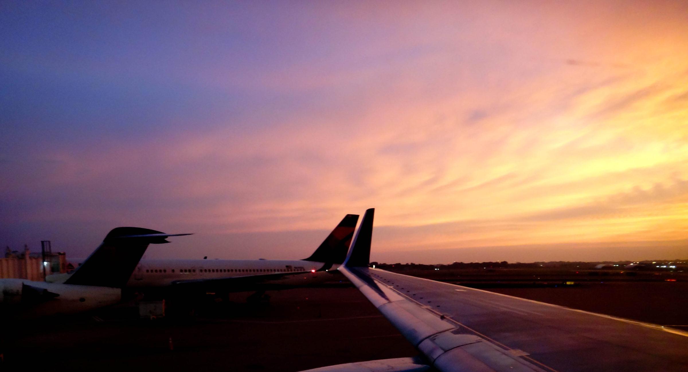 Air Plane Sunrise