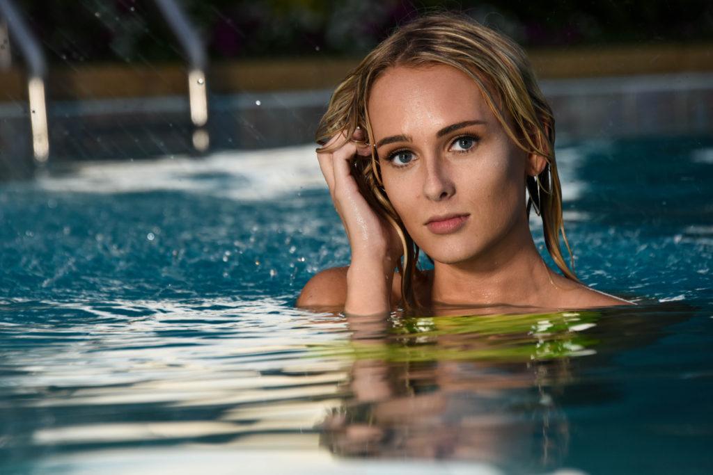 Pool Portrait Shoot Creve Coeur Camera