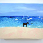 Barbados Horses Acrylic Painting