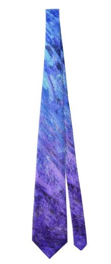 Purple & Blue Abstract Painting Tie