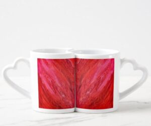 Abstract Painting Heart Mugs