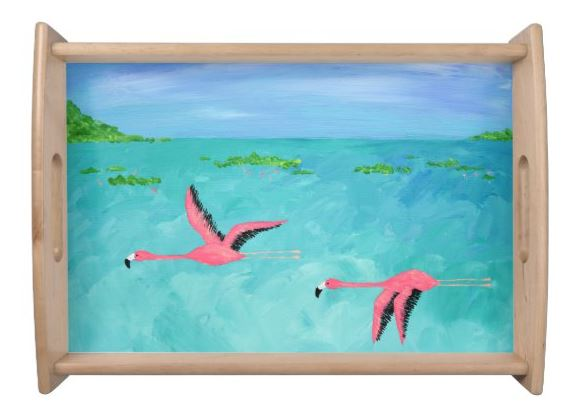 Flamingo Painting Tray