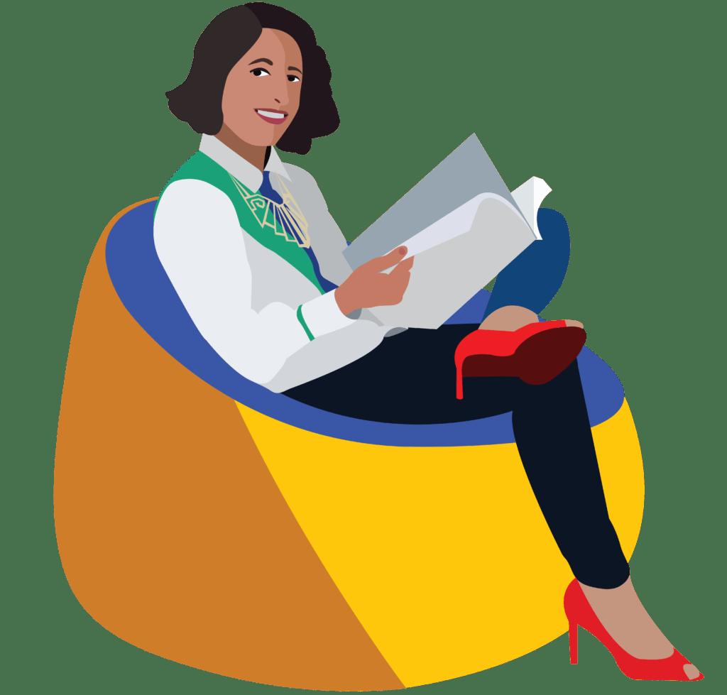 Malika Favre Portrait Illustration