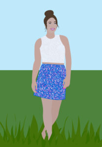 Patriotic Fashion Portrait Illustration