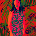 Color Block Tropical Illustration
