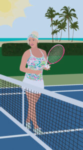 Tennis Portrait Illustration