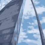 St. Louis Arch Digital Illustration