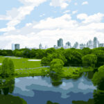 Central Park New York Digital Illustration