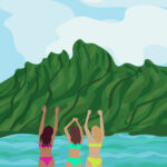 Island Girls Digital Illustration